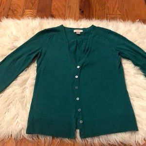 Loft green cardigan small